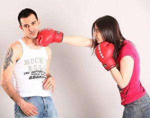 couple boxing